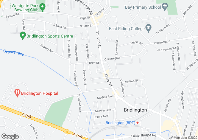 Map for Burlington Gardens, Bridlington, East Yorkshire