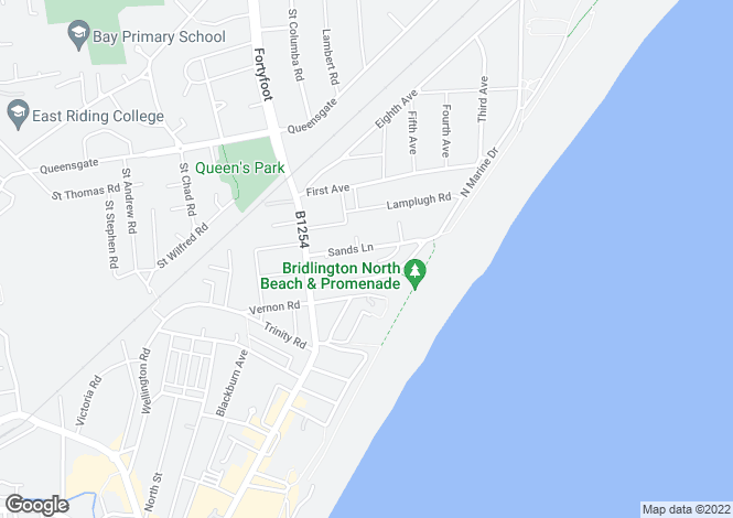Map for Sands Lane, Bridlington, YO15