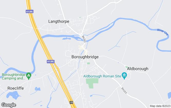 Map for Hunters, Boroughbridge
