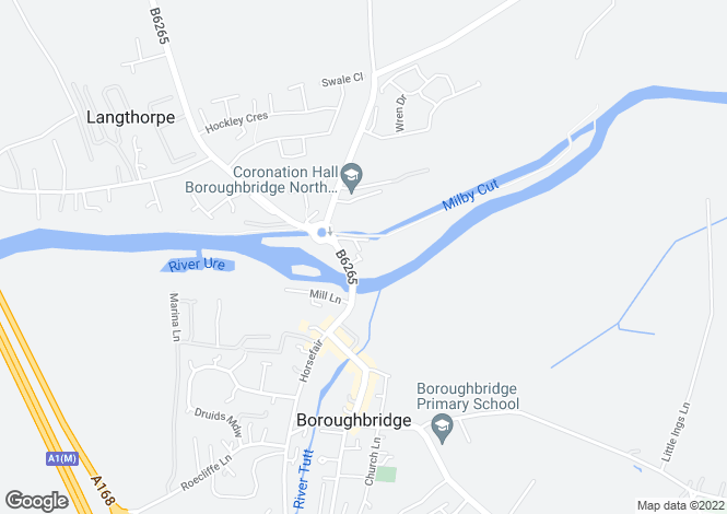 Map for Minerva Court, Boroughbridge, North Yorkshire, YO51