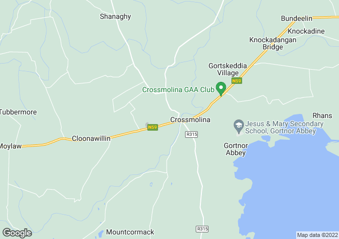 Map for Crossmolina, Mayo