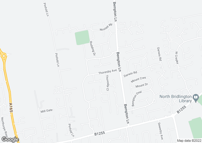 Map for Thoresby Avenue, Bridlington, East Riding Yorkshire, YO16 7EL