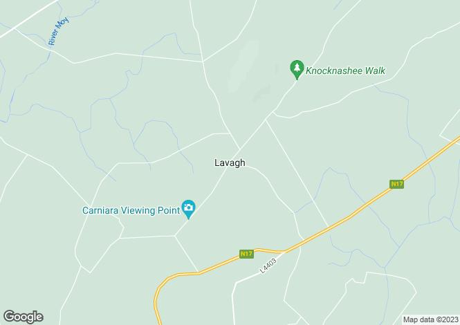 Map for Cloondrihara, Lavagh, Co. Sligo
