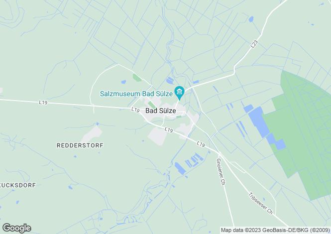 Map for Bad Sülze, Mecklenburg-Western Pomerania