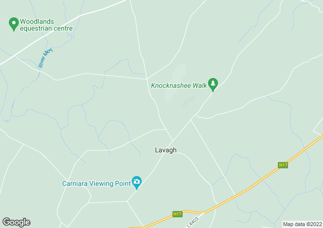 Map for Carrowmore, Lavagh, Achonry, Sligo
