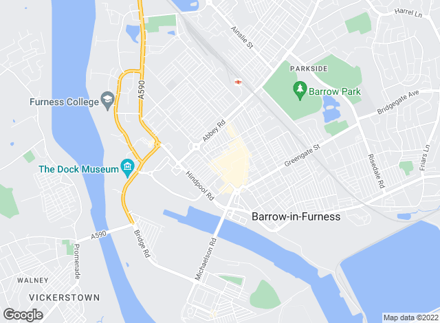 Map for Ross Estate Agencies, Barrow In Furness