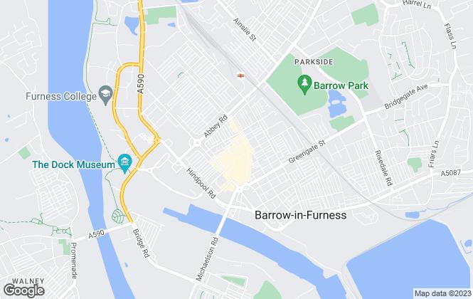 Map for Farrell Heyworth, Barrow in Furness