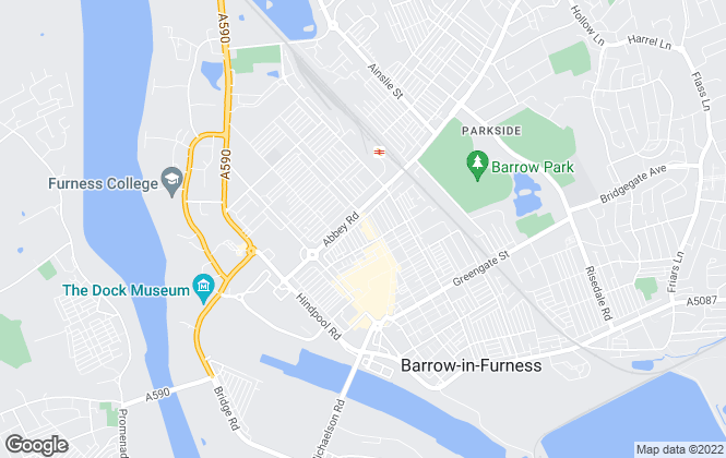 Map for Home and Finance, Barrow