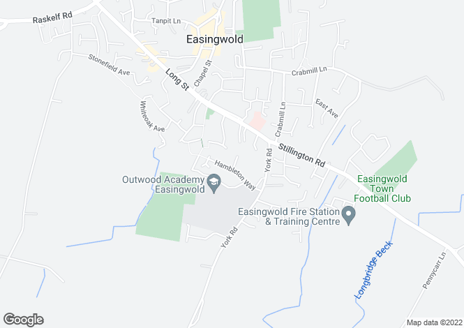 Map for 12 Hambleton Way, Easingwold, York