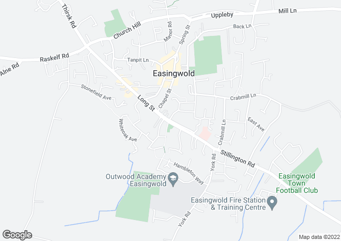 Map for Long Street, Easingwold, York, YO61 3JA