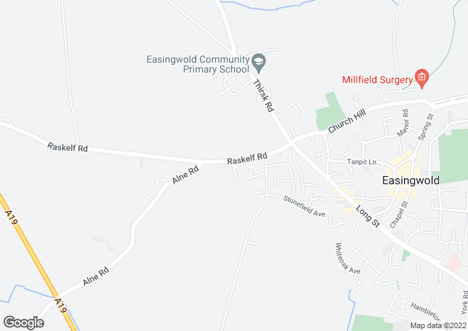 Map for Raskelf Road, Easingwold, York, YO61 3JY