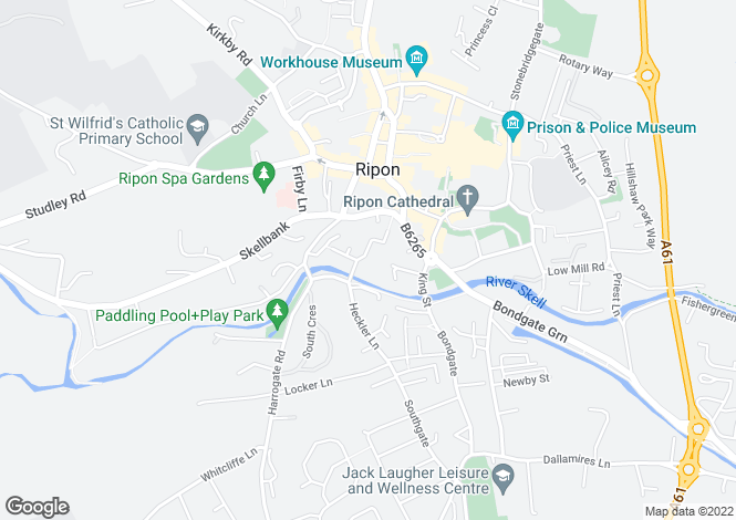 Map for Bishops Court, Williamson Drive, Ripon