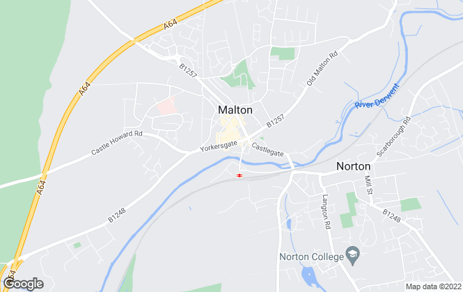 Map for Bulmers Letting Agency, Malton