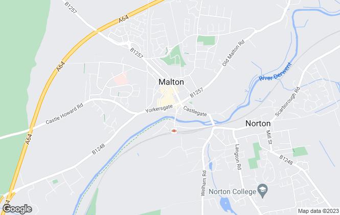 Map for Mark Stephensons, Malton - Sales
