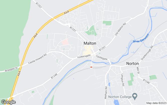 Map for Boulton & Cooper Stephensons, Malton
