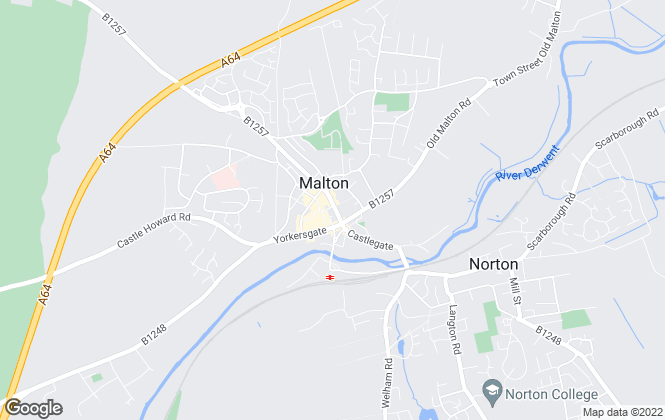 Map for Bulmers Lettings, Malton