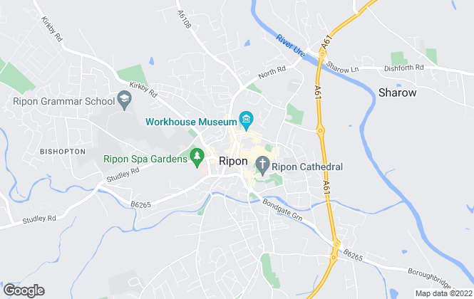 Map for Dacre Son & Hartley, Ripon - Lettings