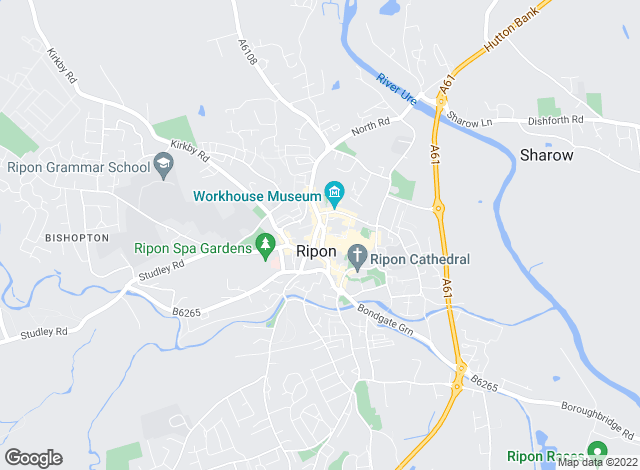 Map for Bridgfords, Ripon