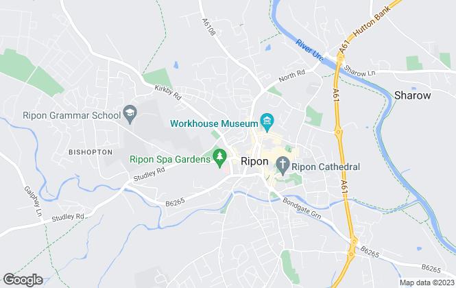 Map for Vinden Estates, Ripon