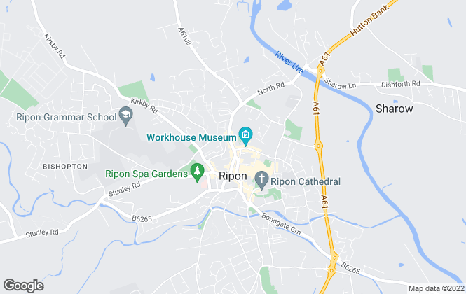 Map for Sherringtons Estate Agents, Ripon