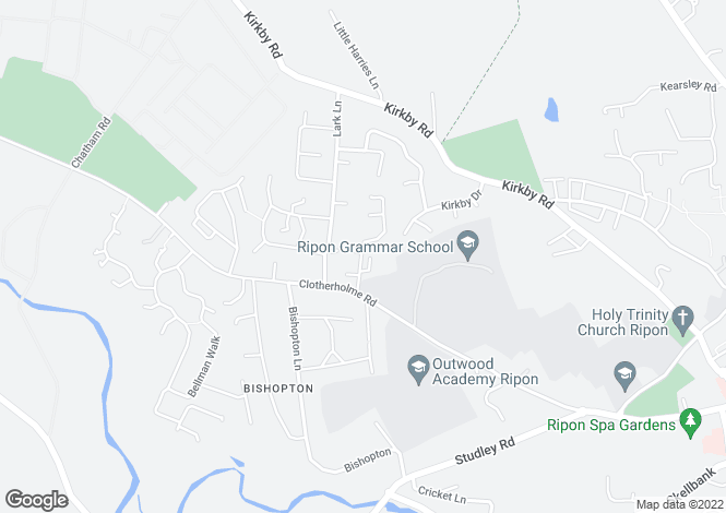 Map for ASH GROVE, RIPON, HG4 2DJ