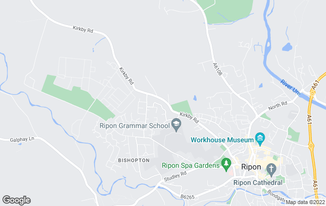 Map for Beckwith Letting and Management Ltd, Ripon