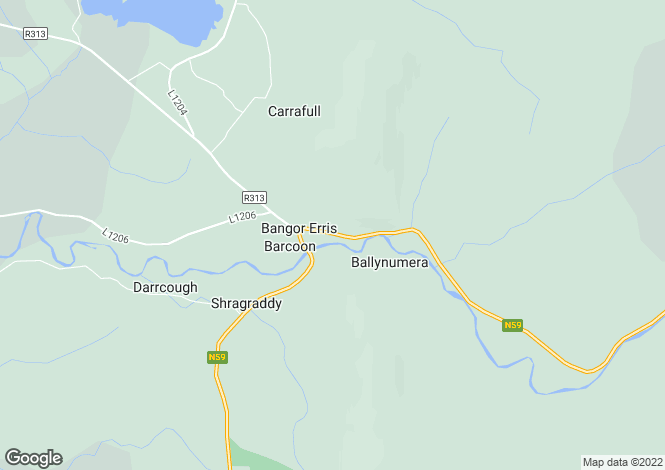 Map for Bangor Erris, Mayo