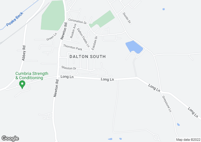 Map for Stainton Drive, Dalton-In-Furness