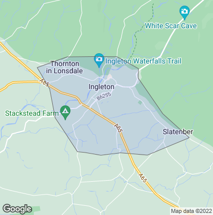 Map of property in Ingleton