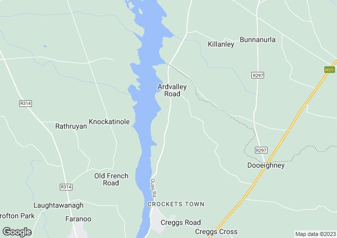 Map for The Covert, Farrangarode, Ballina, Co Mayo, F26 V8C3
