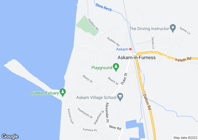 Map for Beach Street, Askam-in-Furness, Cumbria