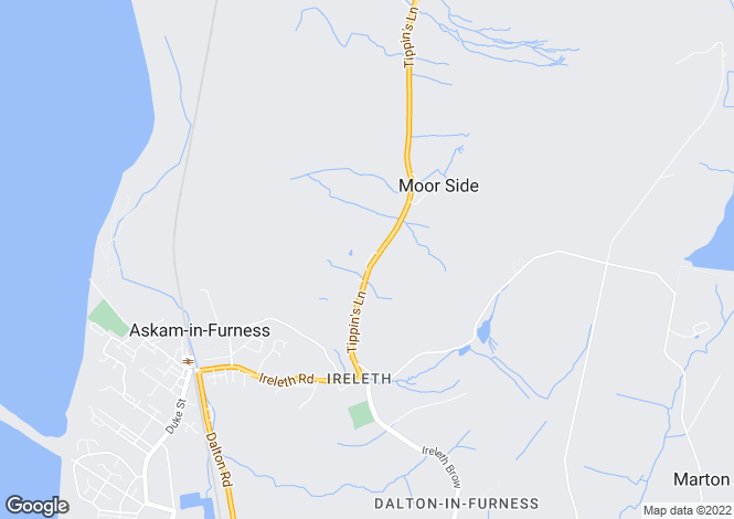 Map for Kirkby Road,