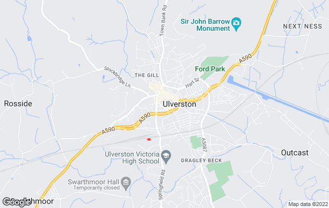 Map for J H Homes, Ulverston