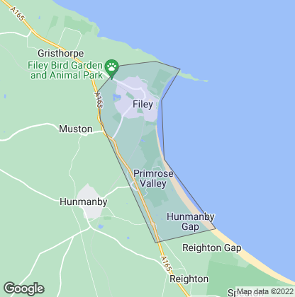 Map of property in Filey