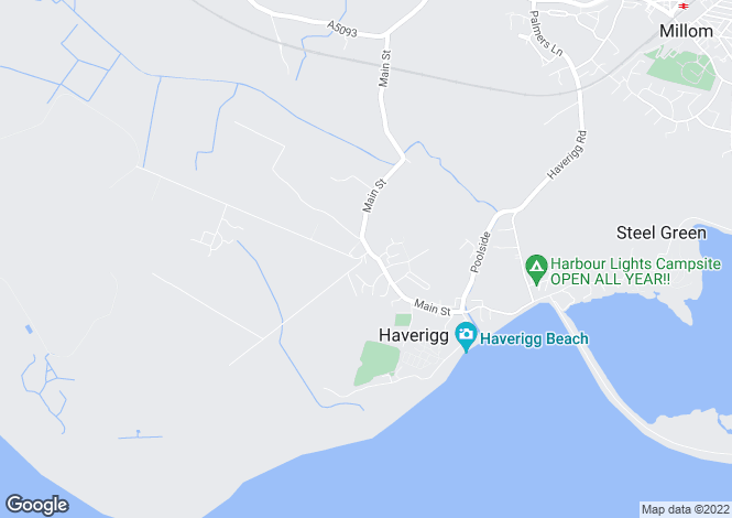 Map for Green Street, Haverigg, Millom, LA18