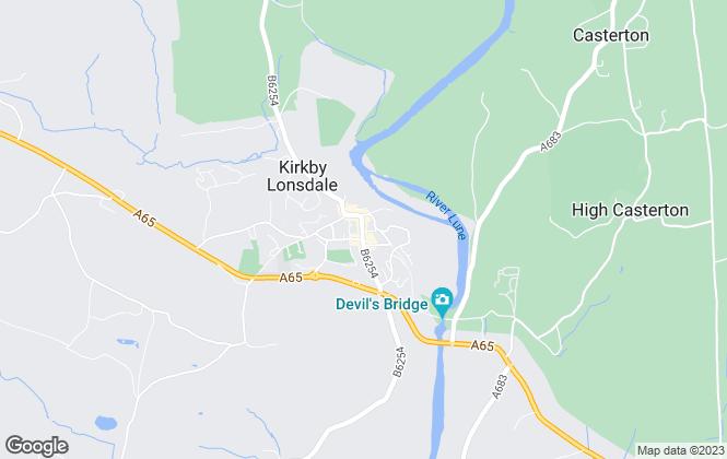 Map for Thomson Hayton Winkley Estate Agents, Kirkby Lonsdale