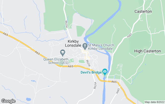 Map for Kirkby Lonsdale Estates, Kirkby Lonsdale