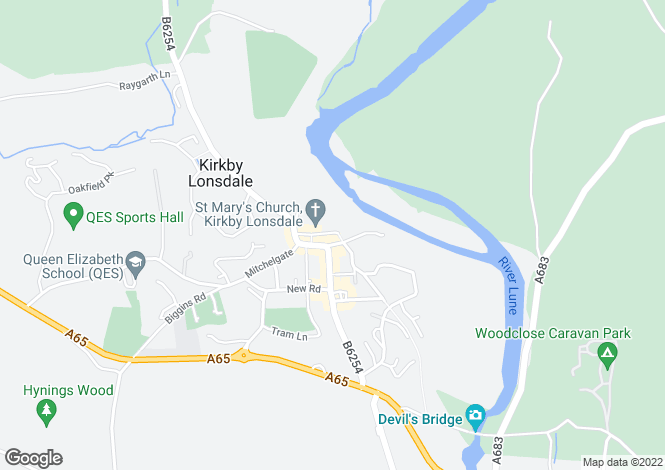 Map for Swine Market, Kirkby Lonsdale, Carnforth, Lancashire, LA6
