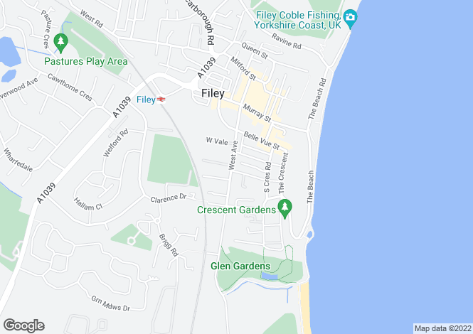 Map for GUEST HOUSE - FILEY TOWN CENTRE