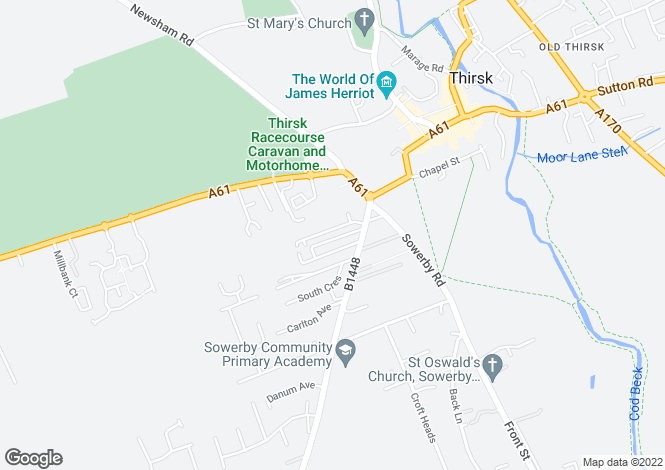 Map for The Maltings, Sowerby, Thirsk, YO7