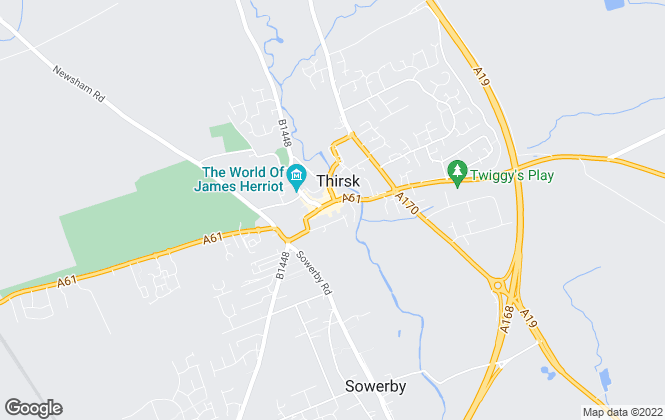 Map for Hunters, Thirsk