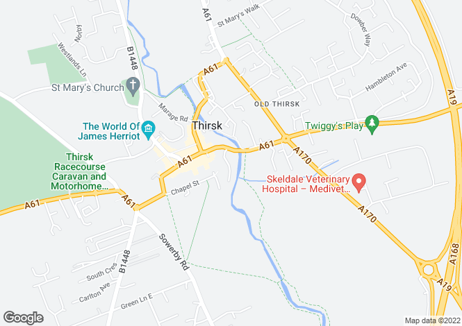 Map for Nursery Gardens,