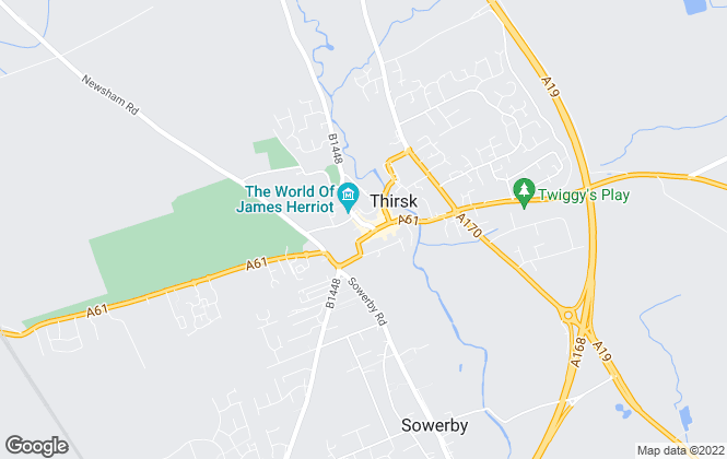 Map for Easy Property, Thirsk