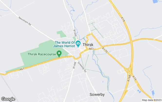 Map for Joplings, Thirsk