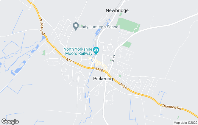 Map for Rounthwaite & Woodhead, Pickering