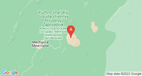 map of Mount Yamantau (Russia)