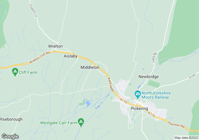 Map for Middleton, Pickering, North Yorkshire, YO18