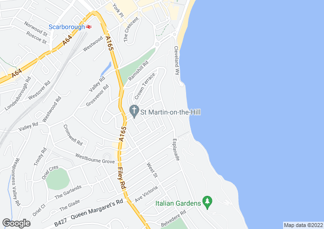 Map for 1, Hedley Court, Scarborough