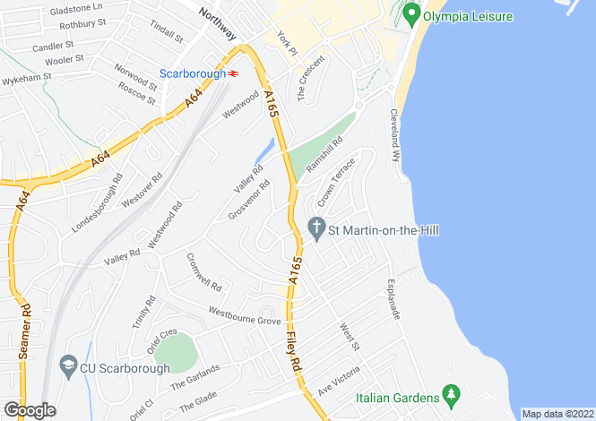 Map for Ramshill Road, Scarborough, North Yorkshire, YO11 2QE
