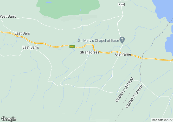 Map for Glenfarne, Leitrim